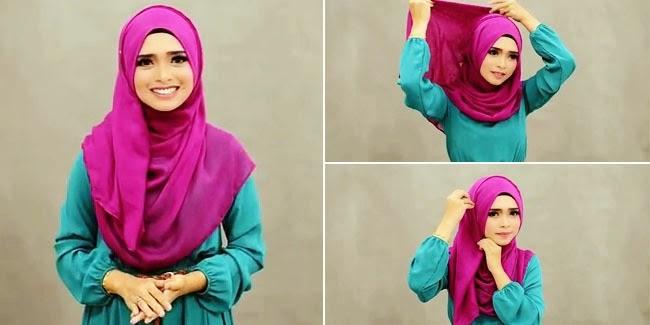 Tampil Cantik dengan Hijab Meski Tak Memakai Bros