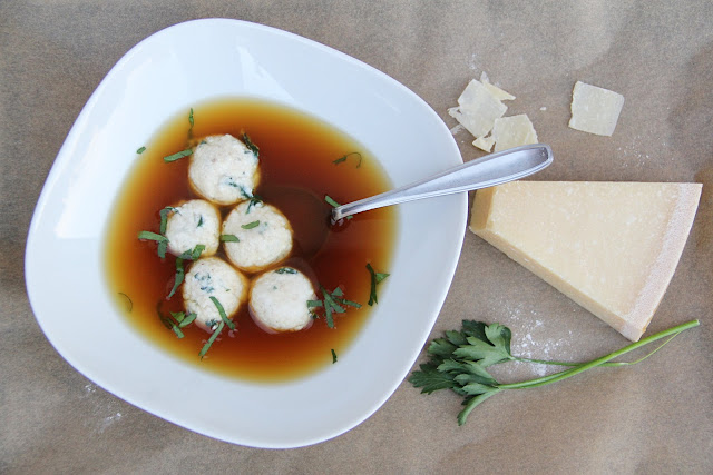 Ricotta Dumplings in Chicken Broth