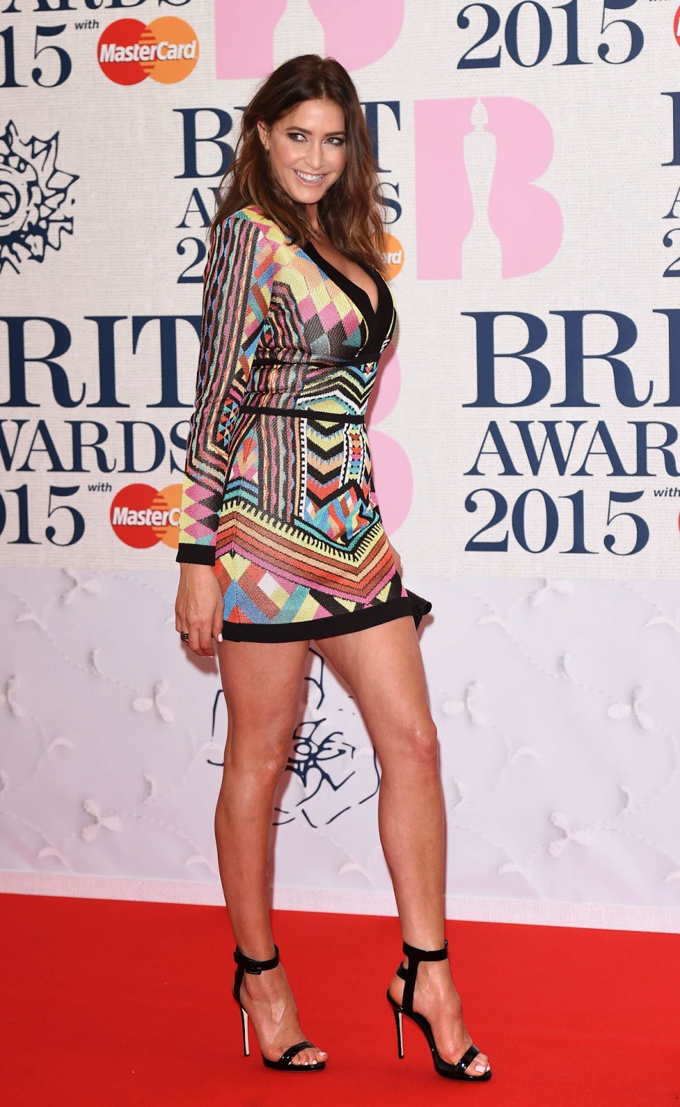 Lisa Snowdon – BRIT Awards 2015 in London