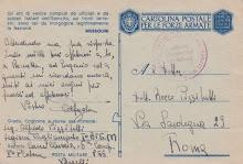 cartolina di Alfredo Pizzitutti , trucidato a Rovetta.