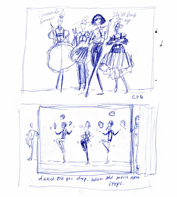 Kitty N. Wong / fashion comic drafts