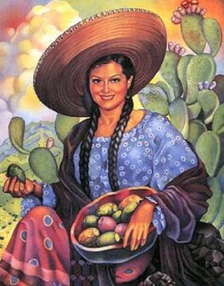 Vintage Mexican Calendar Art : Images about mexican calendar art and mexicanas on