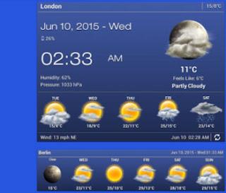 meteo ora widget android