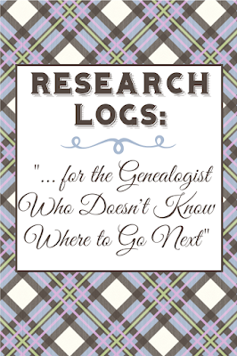 suggestions for successfully keeping a genealogy research log