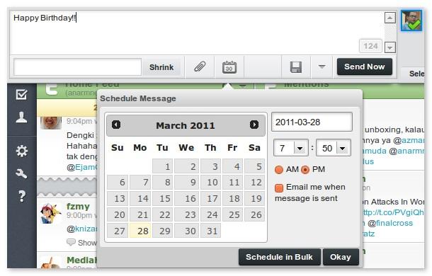 hootsuite schedule tweets