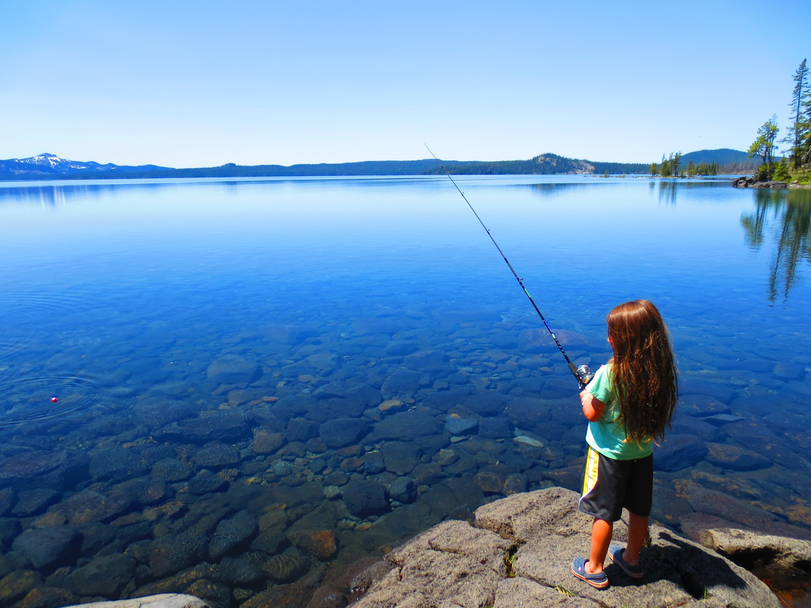 Once in a lifetime once a year the end of oregon and for Clear lake oregon fishing