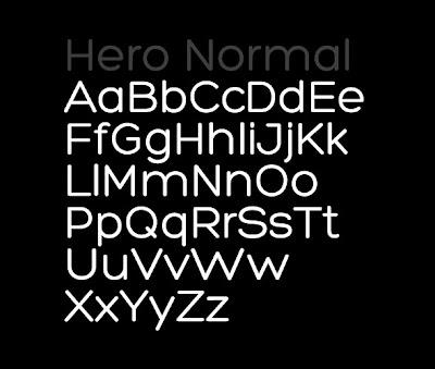 Hero Font Fonte