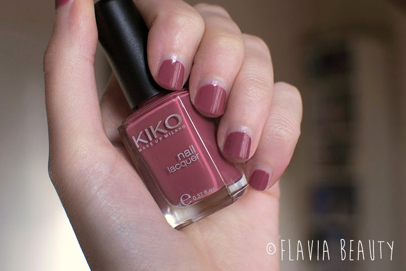 Flavia Beauty Reviews: KIKO Nail Polish Review in #365 Tattoo Rose