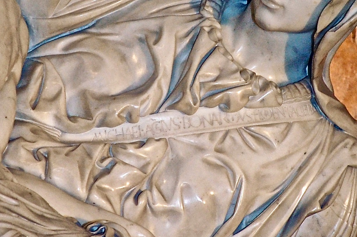 Sash reads: MICHAEL A[N]GELUS BONAROTUS FLORENTIN[US] FACIEBA[T]