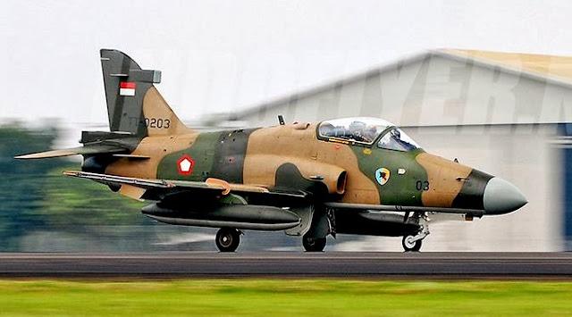 Tanki Pesawat Hawk TNI AU jatuh di Riau