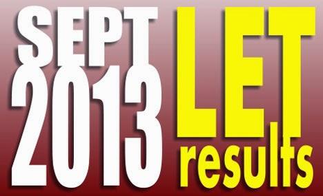 September 2013 LET results