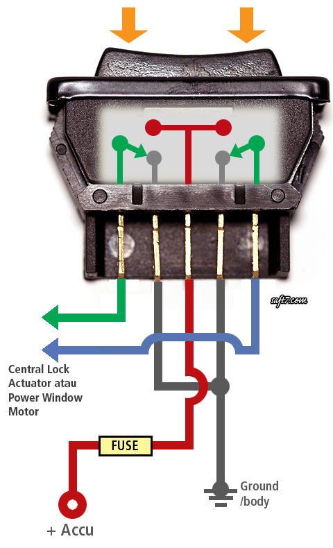 Wiring Diagram Power Window Motor : How power window switch works