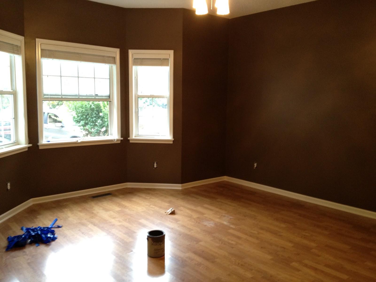 home dark brown bedroom walls