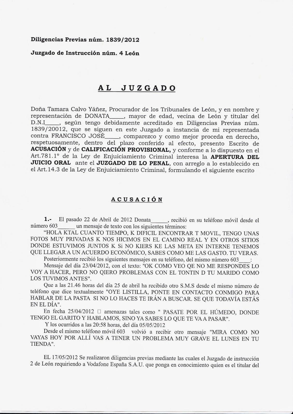 AULA JUDICIAL: Escrito de calificaciones provisionales de la ...
