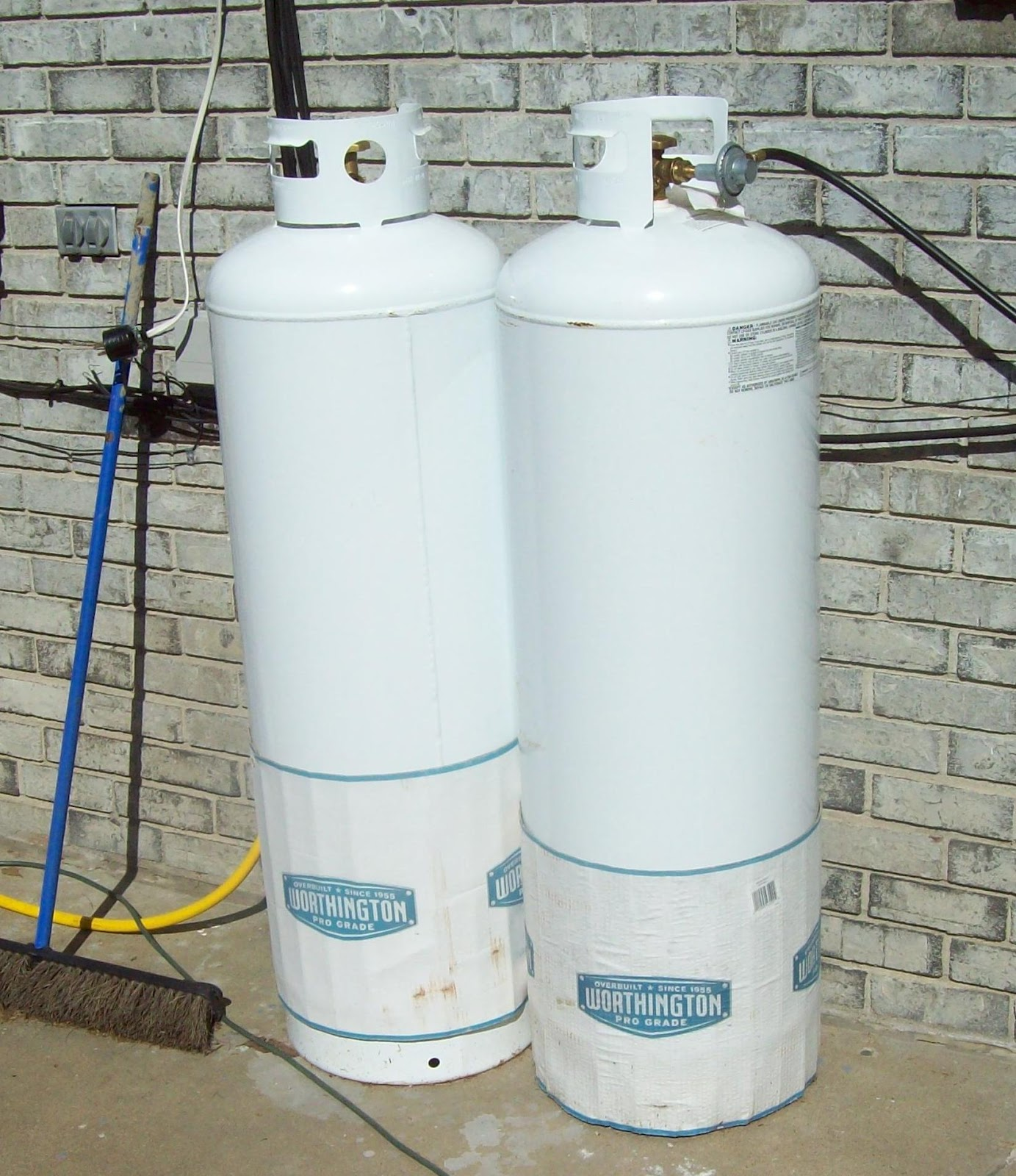 propane tank hook up house
