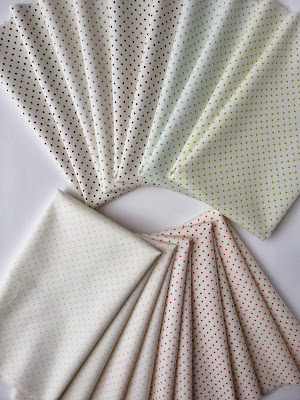Le Creme Swiss Dot Fabrics from Riley Blake