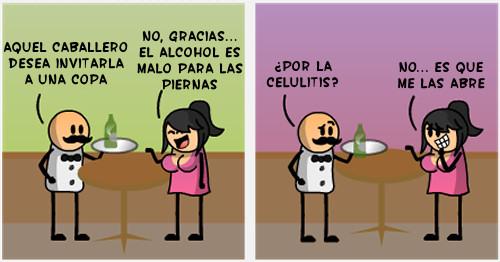 Alcoholicos Unidos: El alcohol es malo para las piernas