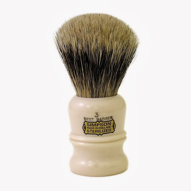 Simpsons Duke 3 Shaving Brush in Best Badger