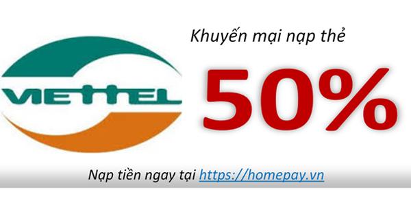 Khuyến mại nạp thẻ Viettel | Viettel khuyến mại | Nạp tiền Viettel