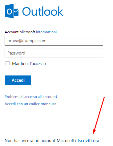 creazione account outlook microsoft