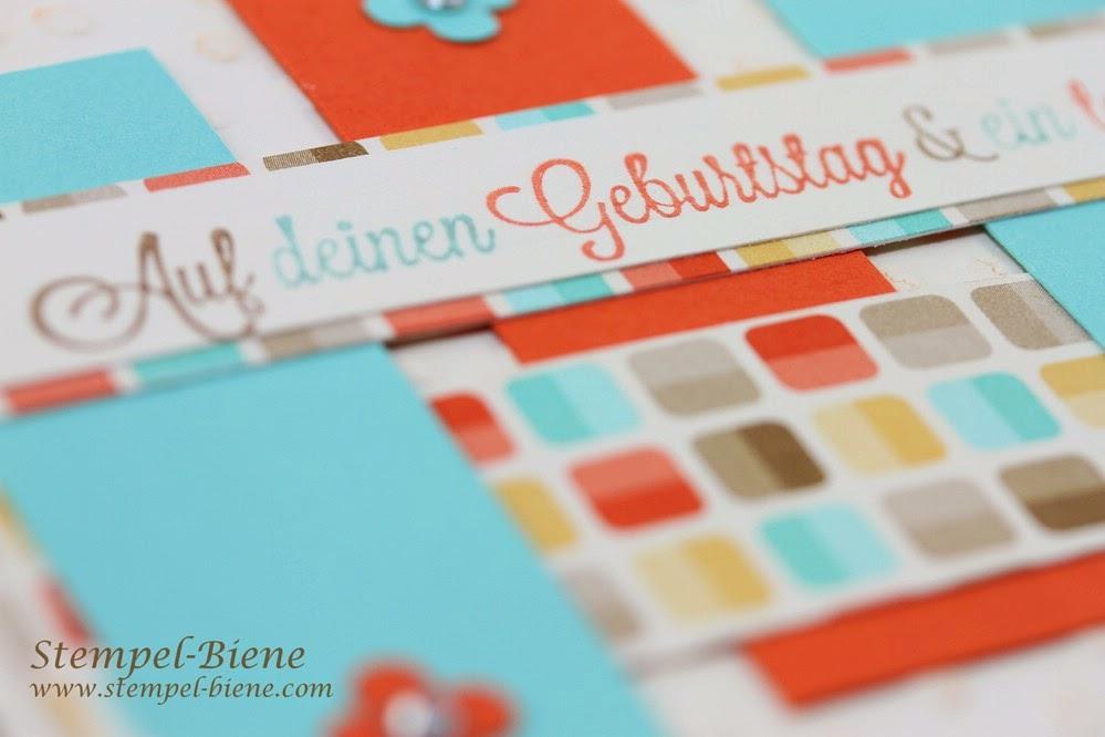 Geburtstagskarte im Retrodesign, Match the Sketch 014