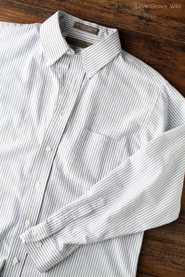 Men\'s Dress Shirt Apron - Love Grows Wild