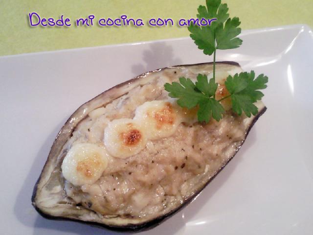 Desde mi cocina con amor berenjenas rellenas de bacalao a - Berenjenas rellenas de bacalao ...