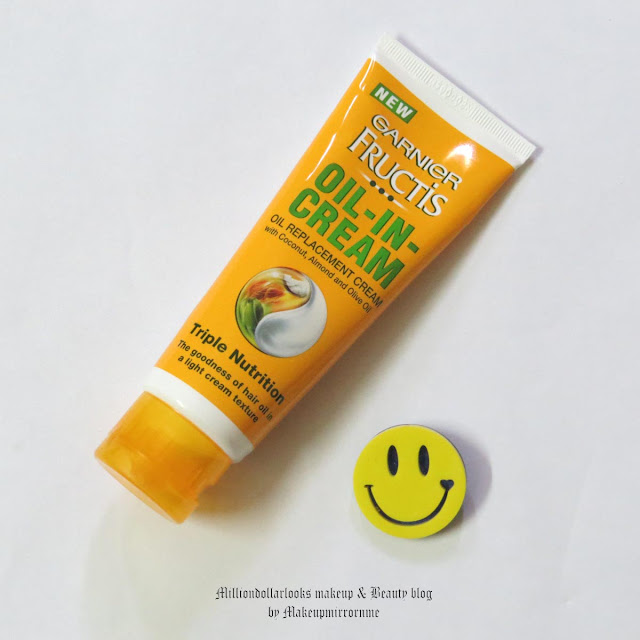 Garnier Fructis Oil in Cream Review, Pictures & Price, Garnier oil in creamreview india, Hair cream, smooth hair, frizz control, Hair products for dry, frizzy hair, Garnier new oil in cream oil replacement cream, Best hair products available in India, garnier india product review, Best products of Garnier, Indian beauty blog, indian beauty blogger, indian makeup blog, De tangle hair, Shiny hair, Indian hair secrets