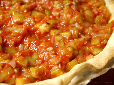 Quiche au saumon, aux courgettes et aux tomates (voir la recette)
