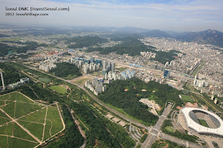 Aerial view of Seoul DMC