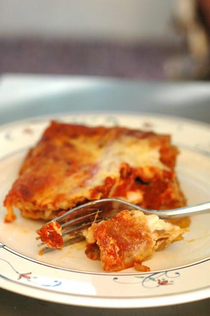 Jack o Lantern lasagne
