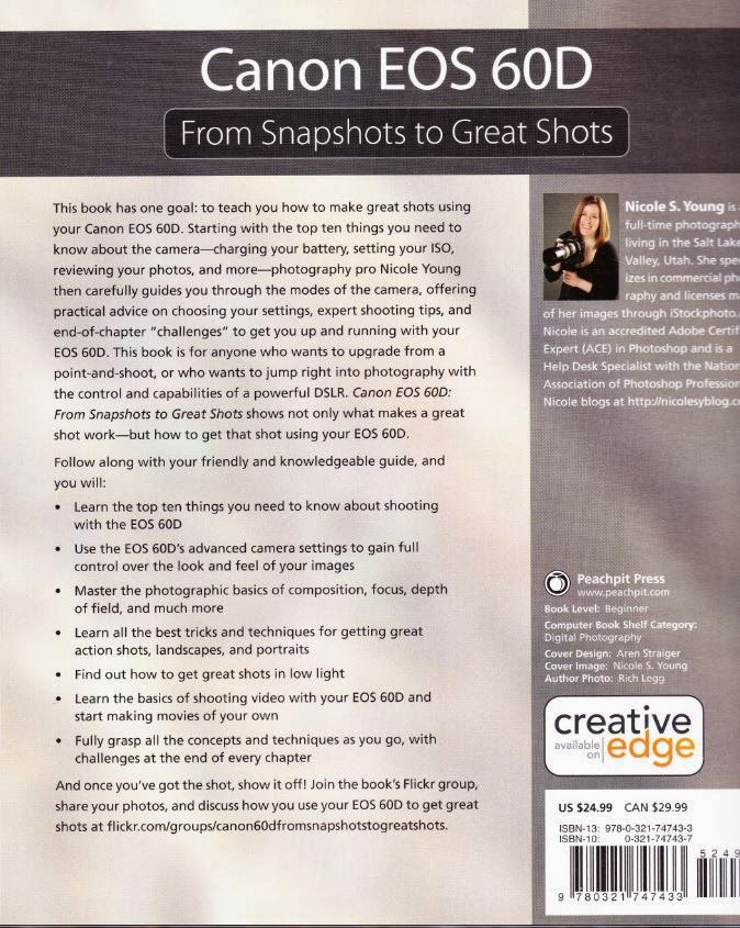 Canon EOS 60D 'From Snapshots to Great Shots Back Cover