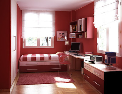 Interior Decoration Red Bedroom Design
