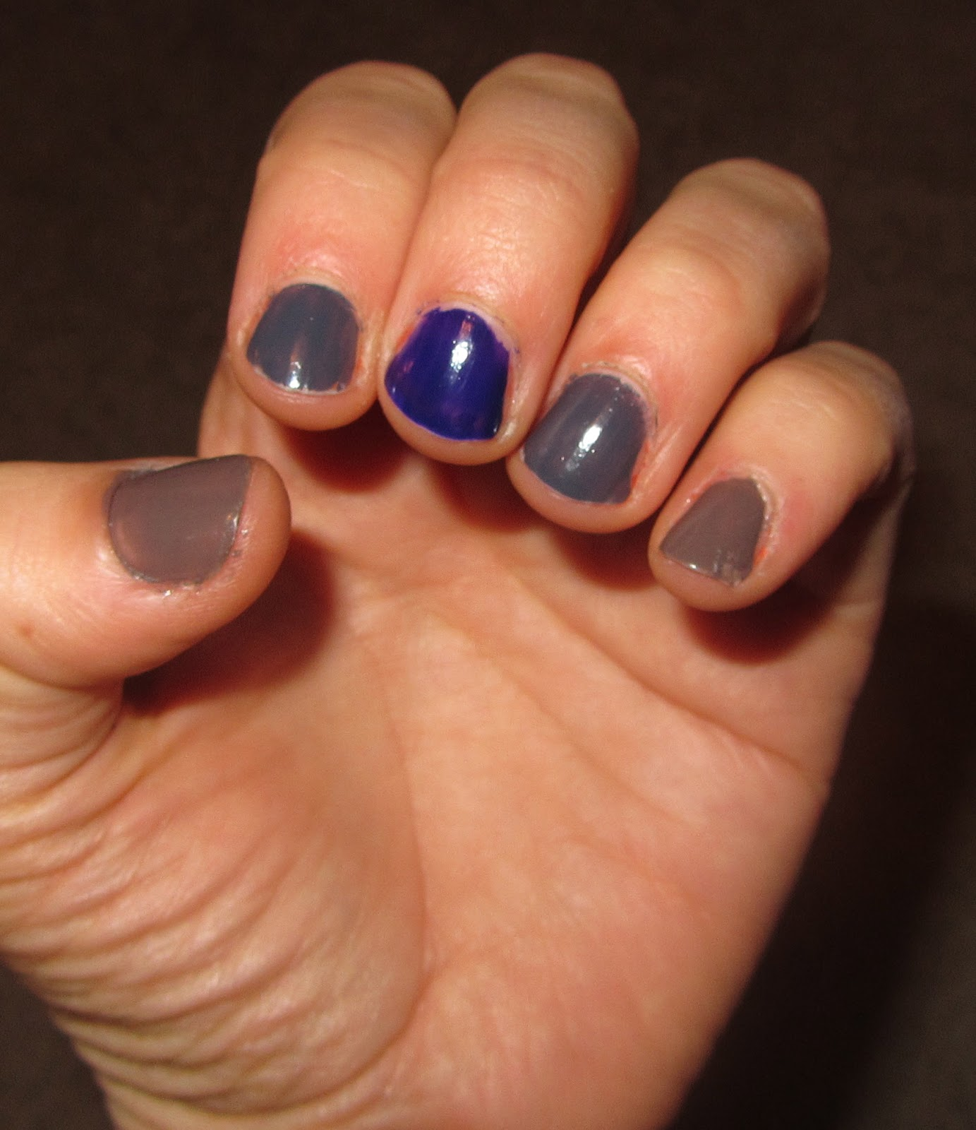 nail art for short nails: idea #3 - project swatch
