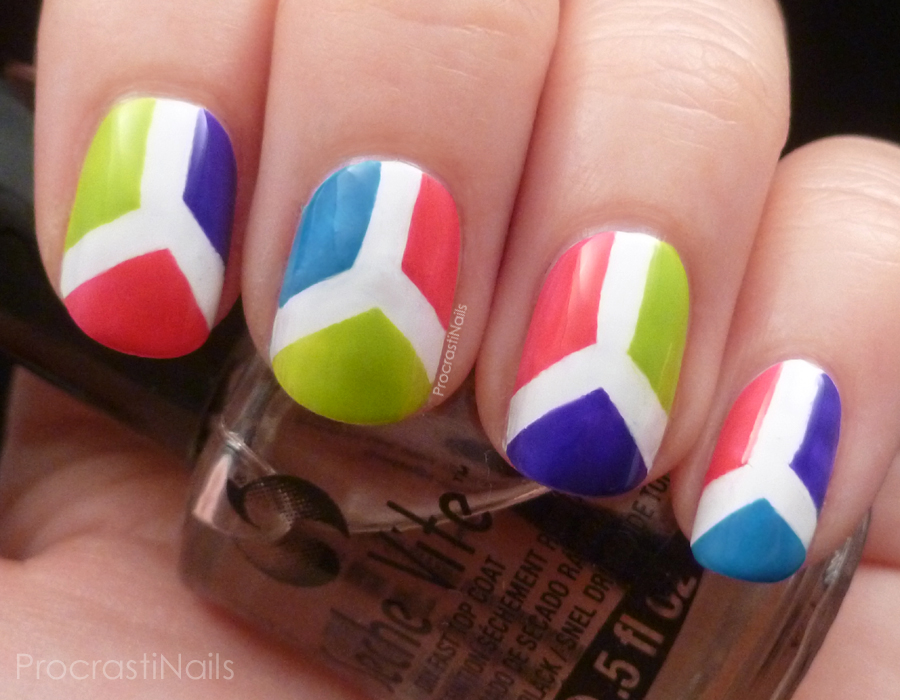 Summer Time Nail Art Challenge: Bright Colour Blocking - ProcrastiNails