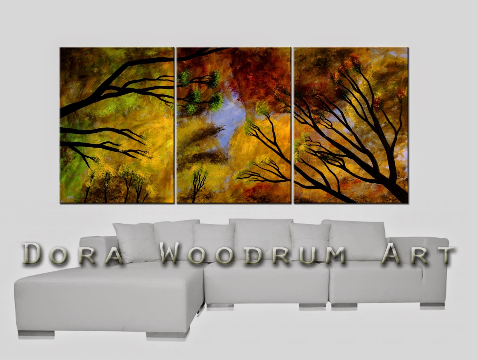 "Abstract Painting ""Central Park"" by Dora Woodrum"