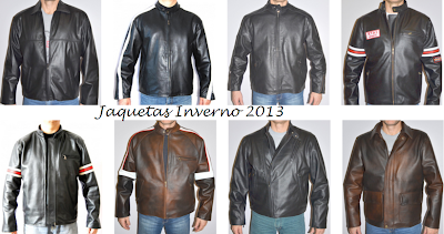 JAQUETA DE COURO MASCULINA INVERNO 2013
