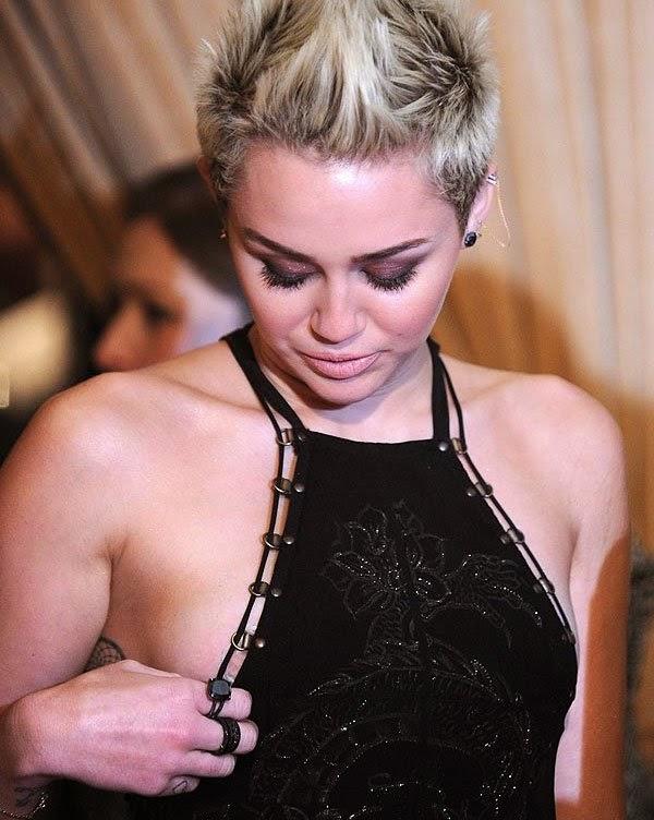 Miley Cyrus nip slip in 2013