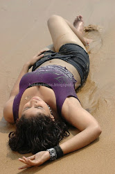 Wet Amrutha Valli Navel In BeachPhoto Gallery