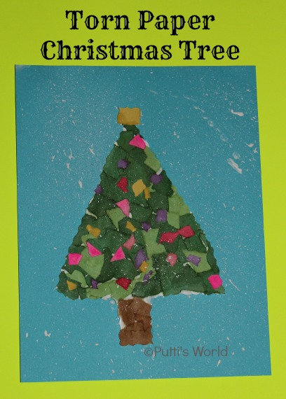 Christmas Kids Craft Tor Paper Tree