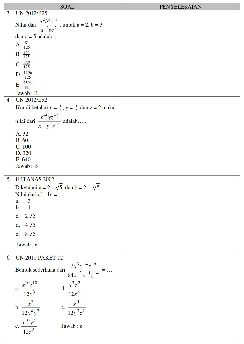 Matematika Pangkat Akar Dan Logaritma Terkupas Share Amp Download