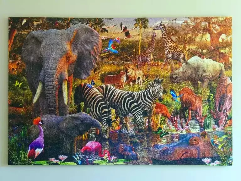 How to mount a large jigsaw puzzle in without glue