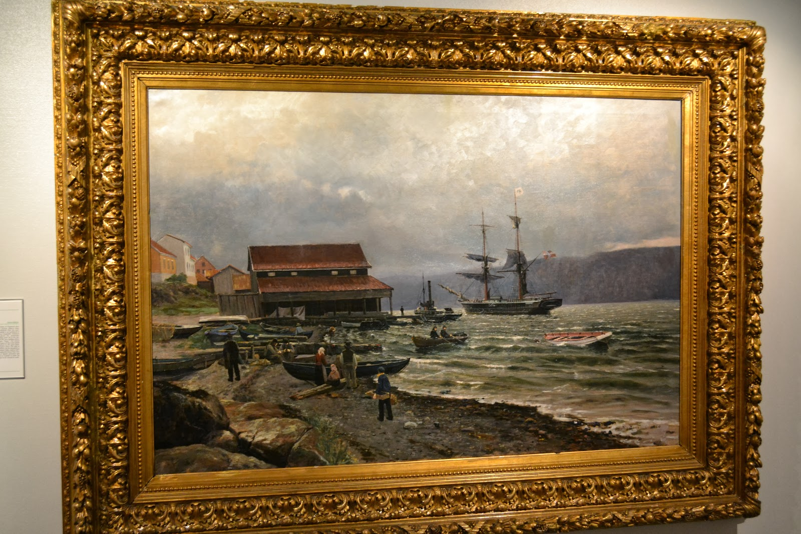 Beautiful painting related to marine displayed at the Norwegian Maritime Museum