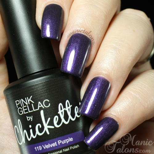 Pink Gellac by Chickettes Velvet Purple Swatch