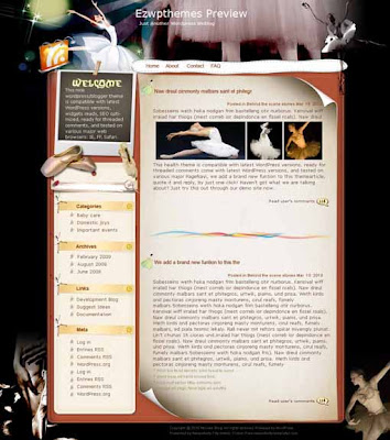 Swan Lake blogger template. template blog from wordpress