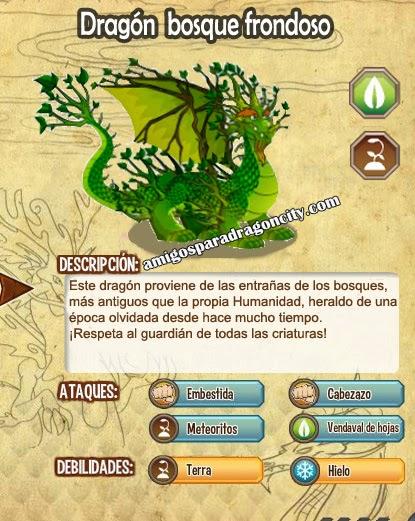imagen de las caracteristicas del dragon bosque profundo