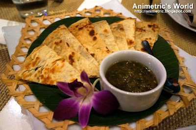 Herbed Roti with Spicy Tomato Dip at Thai Bistro