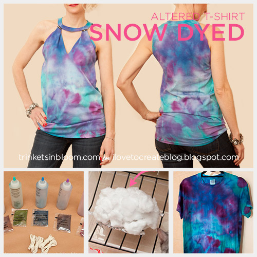 Snow And Ice Dyeing Ilovetocreate