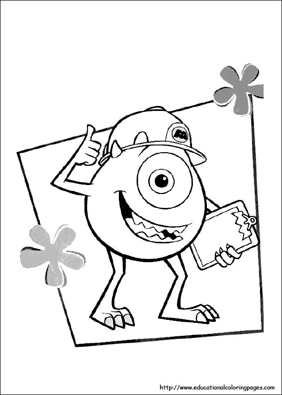 monsters inc coloring book - Pixar Coloring Pages Monsters