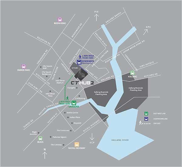 CT Hub 2 Location Map